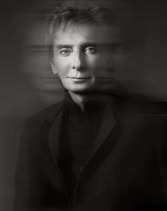 Barry Manilow profile in black and white.>>>cool pic