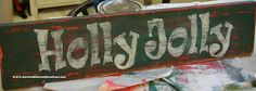 DIY distressed wood signs - tutorial is for Christmas signs but this could be used for anything!