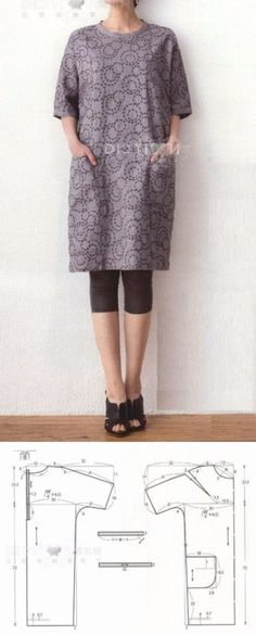 Amazing Sewing Patterns Clone Your Clothes Ideas. Enchanting Sewing Patterns Clone Your Clothes Ideas. Sewing Dress, Sewing Clothes, Dress Making Patterns, Easy Sewing Patterns, Diy Clothing, Clothing Patterns, Japanese Sewing, Make Your Own Clothes, Tunic Pattern