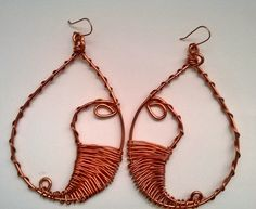 Copper earring (xlarge)---TRJ