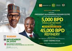 President Muhammadu Buhari is to commission the first phase of the brand new petroleum refinery, which is located at Ibigwe, Imo State and owned by Waltersmith Limited, an oil and gas integrated firm, this week. The Federal Government holds a stake in the refinery, following an investment by the Nigerian Content Development and Monitoring Board…