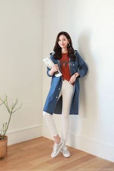 Korean Women`s Fashion Shopping Mall, Styleonme. Korean Casual Outfits, Korean Fashion Casual, Korean Street Fashion, Denim Fashion, Cute Fashion, Girl Fashion, Fashion Outfits, Womens Fashion, Business Dresses