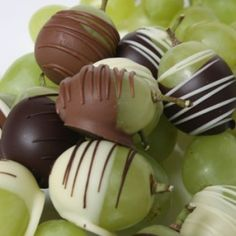 Chocolate dipped grapes!