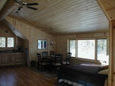 The inside area with that large shed dormer, pine paneled walls, maple floors.  http://www.huismanconcepts.com/