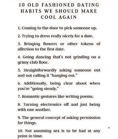 Going steady vs dating