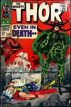 Thor #150 - March, 1968 Cover Art: Jack Kirby.