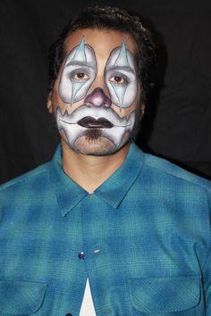 Cholo clown makeup by Elvia Olivarria Torres AKA Vita Loca.
