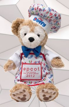 Duffy the Disney Bear Featuring Epcot International Food and Wine Festival Attire