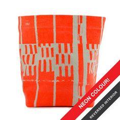 Floor Bin, Landscape Neon Orange