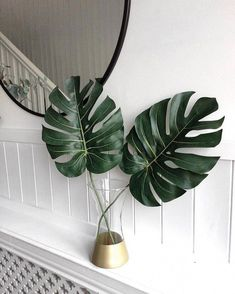 Bathroom Niche: Learn How To Choose And See Ideas With Photos - Home Fashion Trend Cottage Style Bathrooms, Chic Bathrooms, Estilo Tropical, Plant Wallpaper, Plant Aesthetic, Bathroom Plants, Tropical Bathroom Decor, Faux Plants, Tropical Leaves