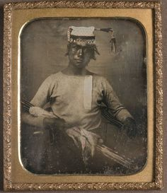 Daguerreotype of a Nisenan Indian with Arrows, c. 1850 - 1860    http://americanhistory.si.edu/onthewater/exhibition/2_4.html