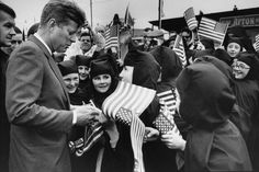 President John Kennedy signs autographs during his landmark visit to Ireland in June 1963 http://www.rosettabooks.com/ebook/jfks-final-hours-in-texas/