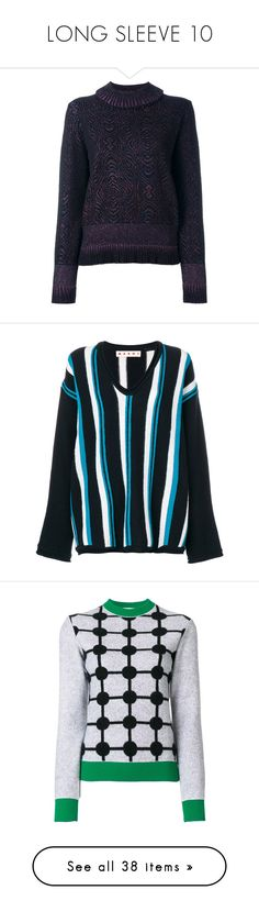 """""""LONG SLEEVE 10"""" by noconfessions ❤ liked on Polyvore featuring tops, sweaters, black, glitter long sleeve top, glitter jumper, drop shoulder sweater, marble top, glitter top, blue and loose tops"""