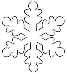 Quilt Stencil Snowflake By Estes, Laura  - Snowflake Block 5in x 5-1/2in continuous line stencil. Stencil is made of Mylar plastic with the displayed design cut into it.