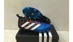 best loved aa59c 78a2d Adidas ACE 16+ Purecontrol Paris FG Soccer Cleats - Core BlackWhiteShock  Blue