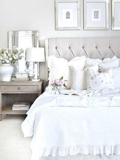 Design Home Bedroom Romantic Master Bedroom Romantic Bedroom Cozy Bedroom, Home Decor Bedroom, Bedroom Furniture, Trendy Bedroom, Bedroom Colors, French Bedroom Decor, Bedroom Sets, Bedroom Wall, Shabby Bedroom