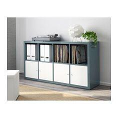 IKEA - KALLAX, Étagère, brillant gris turquoise, , Ce meuble peut servir de séparateur de pièce car il présente la même finition sur tous les côtés.