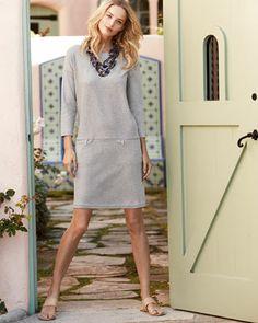 Joan Vass Knit Zip-Pocket Shift Dress,Neiman Marcus. Keep your Spring 2014 look minimalist chic with our Joan Vass Knit Zip-Pocket Shift Dress, available at NeimanMarcus.com. #JoanVass #NeimanMarcus #ShiftDress #Shift #Grey #GreyDress #ZipperDetail #Zipper #Detail #Minimalist #Minimal #Chic #Style #Fashion #Structure #MinimalistStyle #Inspiration