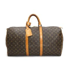 Louis Vuitton Keepall 55 Monogram Luggage Brown Canvas M41424