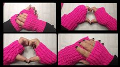 Fingerless Gloves, Arm Warmers, Youtube, Fingerless Mitts, Tutorials, Tricot, Stitches, Winter Time, Fingerless Mittens
