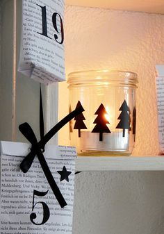 Advent, Advent! Weihnachtlich dekorieren mit Postern und Stickern von *match set love* - DIY Adventskalender