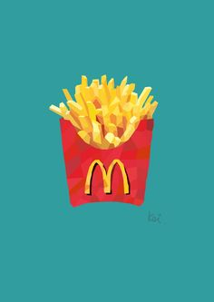 fresh fries #polygonart #illustrations