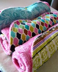 Baby blanket easy enough a beginner could sew it