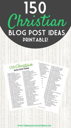 Not sure what to write on your Christian blog? Discovering content that speaks to you and your reader can be hard. This is why I have come up with 150 Christian blog post ideas to get your creative juices flowing. I hope this free printable helps you.