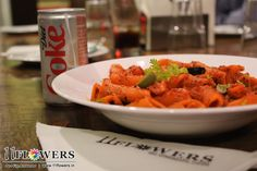 Tasty Arabia-ta Pasta at 11 Flowers Restaurant in Vrindavan, India. Arabiata Pasta, Rooftop, Vegetarian, Tasty, Restaurant, India, Pure Products, Meals, Vegan