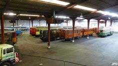 Retired Parisian RATP trains. Hangar de triage ferroviaire à Villeneuve-Saint-Georges
