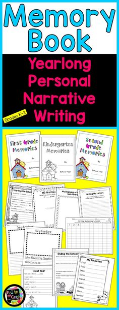 While creating a precious keepsake, this yearlong memory book project will guide you in teaching your K-2 students how to write personal narrative paragraphs. They'll learn the process of brainstorming ideas, choosing one, filling in a graphic organizer (web), and then writing a paragraph including a topic sentence, detail sentences, and a closing sentence. This resource includes lots of beginning and end of the year feelings & assessment pages, as well as detailed lesson plans and examples.