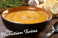 Sweet Potato Soup | Cozy up with this YUMMY, ONLY 125 CALORIES & 5 g FIBER delight! |BLOAT-FREE only 100 mg sodium soup!| For MORE RECIPES like this please sign up for our FREE NEWSLETTER www.NutritionTwins.com