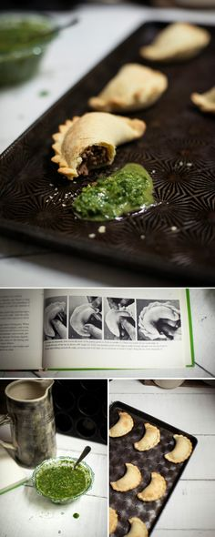 Beef Empanadas with Chimichurri Sauce with recipe |  Adeline & Lumiere Photography.