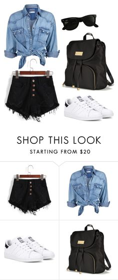 """""""Untitled #476"""" by veiinticuatro ❤ liked on Polyvore featuring Soul Cal, adidas Originals, Victoria's Secret and Ray-Ban"""
