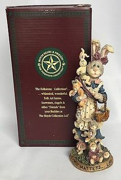 Boyds-Bears-Family-Matters-Mama-McHutch-And-Babies-1999-Folkstone-Piece-With-Box