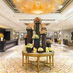 Lobby at the Shangri-La Bosphorus, Istanbul. Photo courtesy of tropbeaupouretrevrai on Instagram.