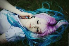 Midsummer Night's Dream by MariannaInsomnia.deviantart.com on @deviantART pink blue hair