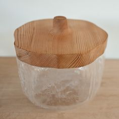 // Playmountain & Studio Prepa glass jar with wooden lid