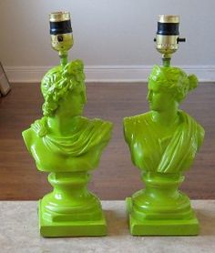 Lime green lamp bases