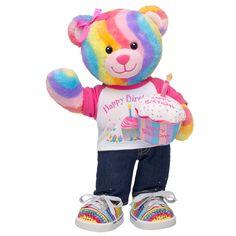 Happy Birthday Rainbow Hugs Bear - Build-A-Bear Workshop US $45.00