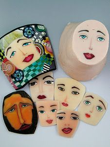 A class in polymer clay face cane making with Barbara McGuire