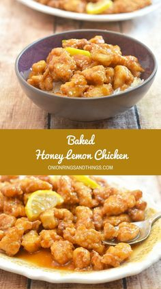 Baked Honey Lemon Chicken bursting with sweet honey and fresh lemon flavors, and baked for a healthier twist is the epitome of modern comfort food. Refreshing tangy and delicious, it's amazing over steamed rice! via @lalainespins