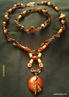 Another one of my fave poly clay jewelry sets I have made..  Deana Tankersley