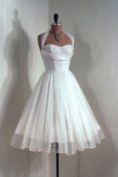 1950's Vintage Chiffon Rockabilly Dress
