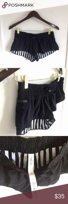 Lululemon Reversible Super Short Running Shorts Lululemon black short shorts. Turn them inside out for a completely different look. Worn only a few times lululemon athletica Shorts