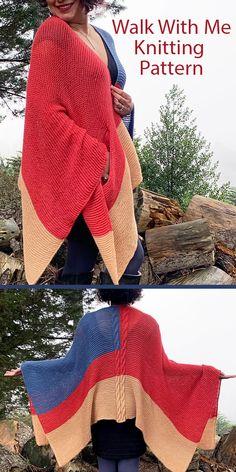 Ruana Knitting Patterns- In the Loop Knitting Poncho Knitting Patterns, Knitted Poncho, Knitted Shawls, Knitting Yarn, Knit Patterns, Free Knitting, Knitted Scarves, Aran Weight Yarn, Ear Warmer Headband