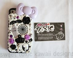 iPhone 4/4s Case Kawaii Whipped Cream purple grunge cute emo decoden punk fancy pastel goth on Etsy, $12.00