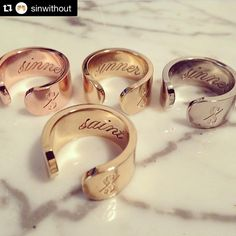 Which one are you? Shop our selection of Sin Without rings available in store and on our website www.shopatmilk.com. ‪#‎sinwithout‬ ‪#‎jewelry‬ ‪#‎milk‬ ‪#‎millboutique‬ ‪#‎sinner‬ ‪#‎saint‬ ‪#‎shopitnow‬ ‪#‎instore‬ ‪#‎online‬