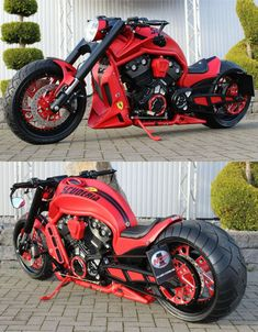 "Harley Davidson Night Rod ""Scuderia"" by No Limit Custom #harleydavidsonmotorcycles"