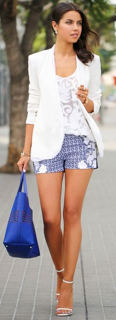 White + Navy Outfit
